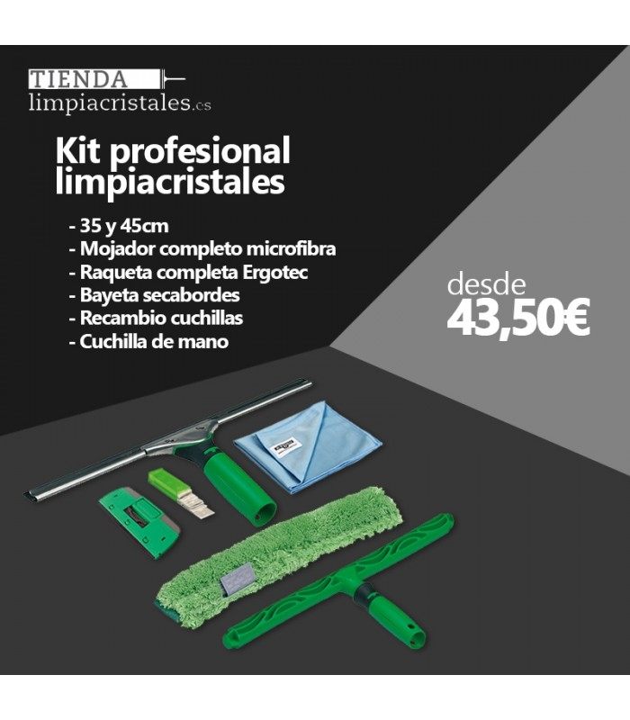 Kit Profesional Limpiacristales 45m