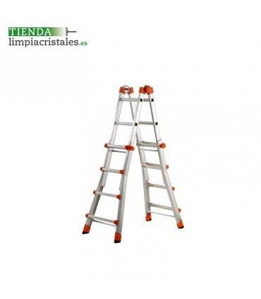 Escalera Gierre aluminio 4+4